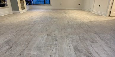 Laminate kitchen wood flooring supplied and fitted by FloorIT Letterkenny, Co Donegal