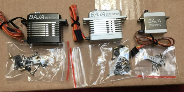 Full CNC cut servos MG HV