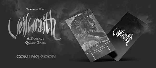 Veilwraith is a solo player card game with deck building elements and a multiplayer variant