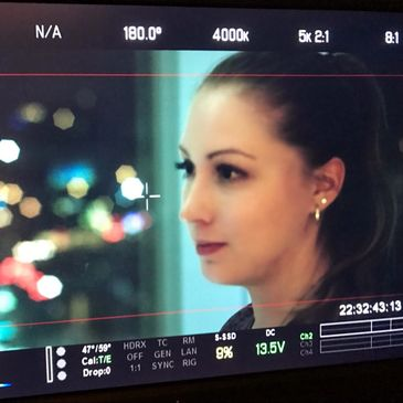 Karlee Squires on set of The Roman.