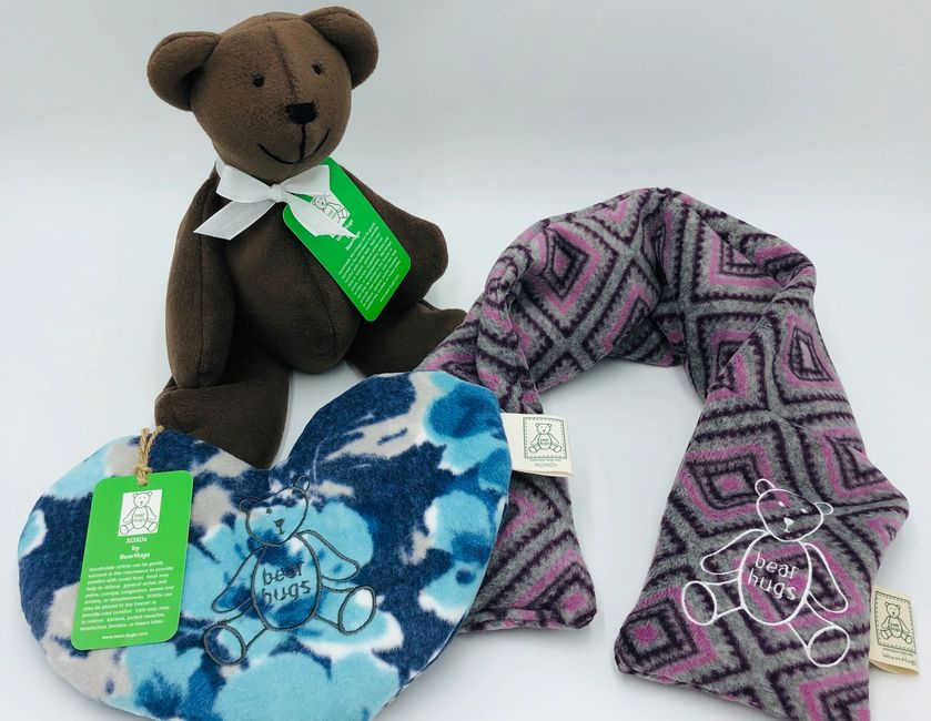Aromatherapy WarmHugs, WarmHugs Wraps & XOXOs in lavender or peppermint
