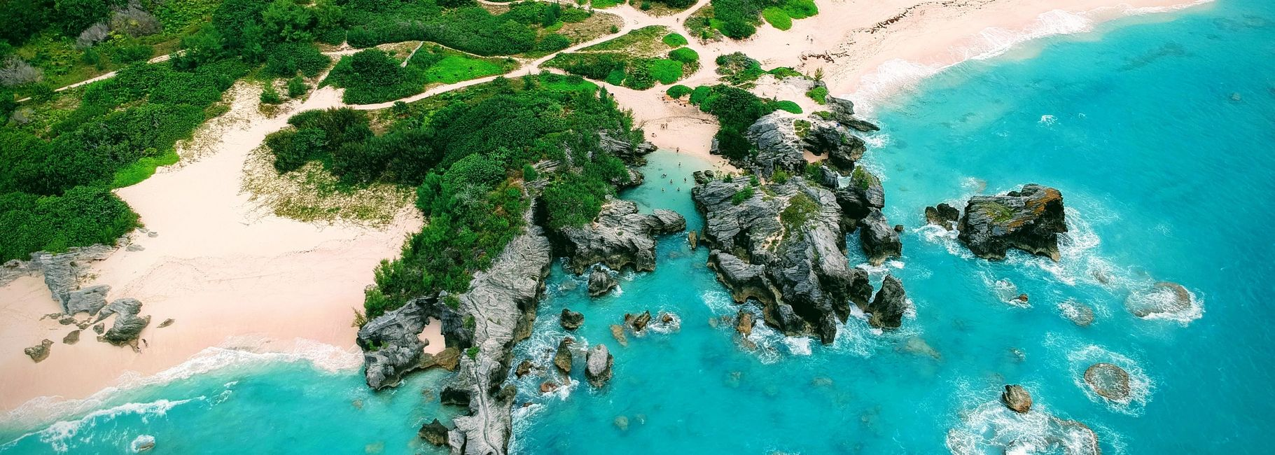 Upper view of Jobson's Cove in Bermuda.