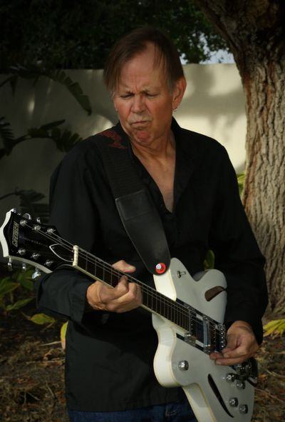 Brent Bennett with white Gretsch guitar