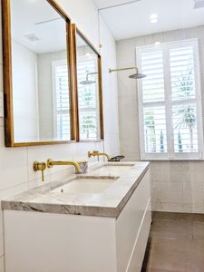 Bathroom renovation, ensuite bathroom, bathroom cabinetry south east suburbs Hampton Ormond Armadale