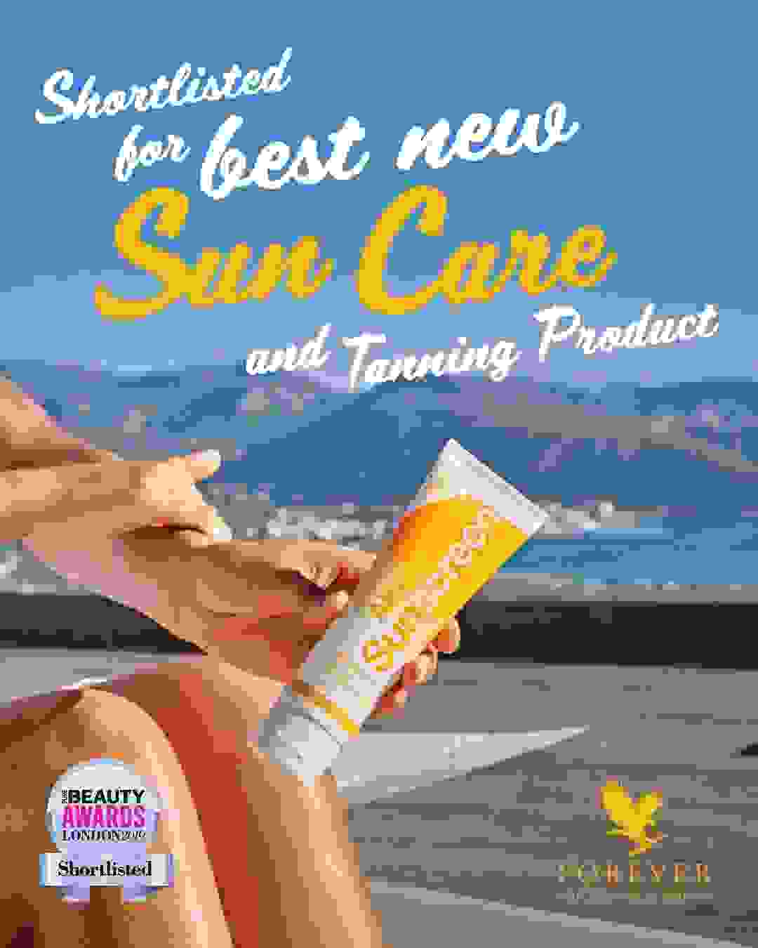 Aloe Sunscreen shortlisted for best new sun care and tanning product