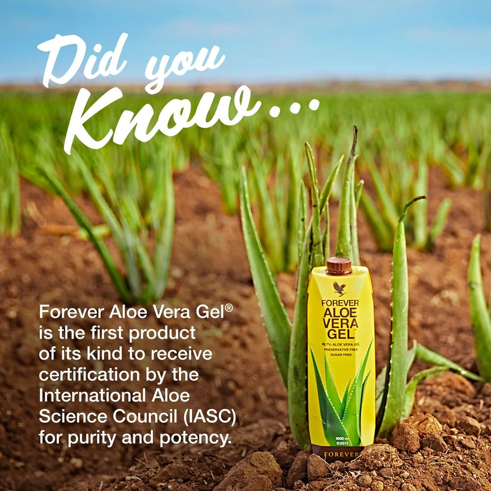 Forever is the largest grower, manufacturer and distributor of Aloe vera in the world.