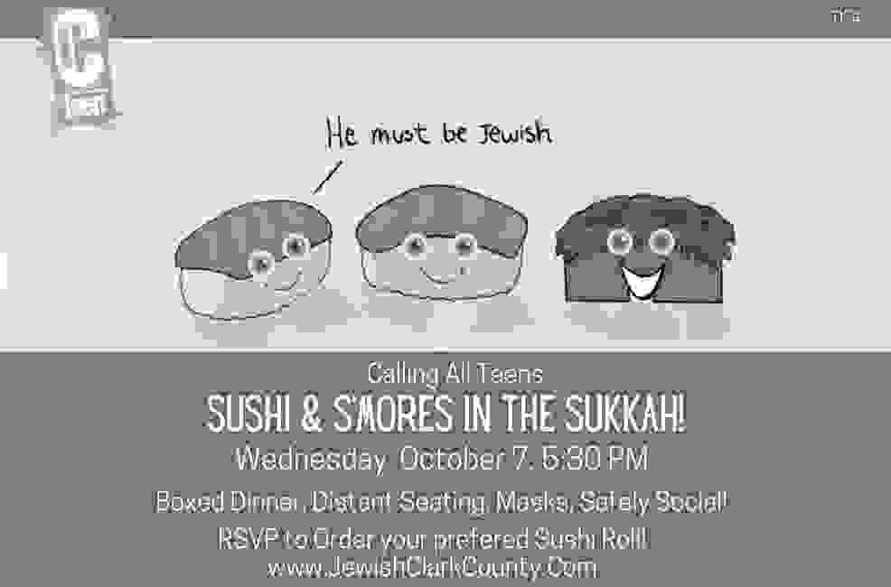 Sushi and s'mores boxed dinner, social distance seating, mask, safely social!