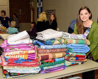 Quilts donated to Sage Cancer Center