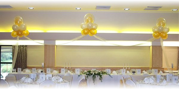 Celebration cakes, venue decorations, balloons, party supplies,