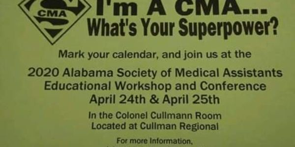For more information check out the Northeast Alabama Society of Medical Assistants Facebook page!!!