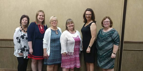 Cindy Simons, Miranda Naylor, Kim Fiessinger, Jenny Myers, Dana Rickley and Linda Reed.