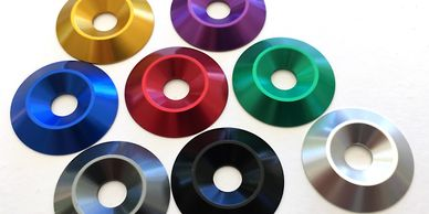 6mm beauty washers aluminum solid anodized