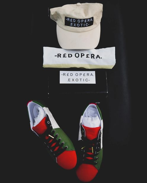 Red Opera Exotic Casual Designer Fashion and Footwear.
