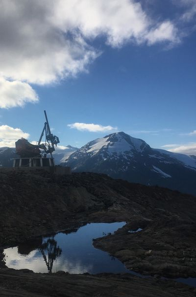 Rock Anchor drilling in the mountains