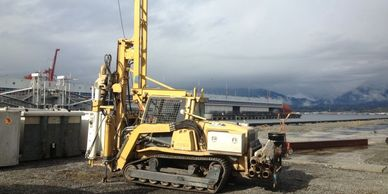 Low Clearance Track Environmental and Geotechnical Drilling in Vancouver BC