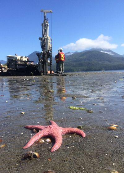 Geoprobe Direct Push Track Environmental and Geotechnical Drilling in Vancouver Island BC