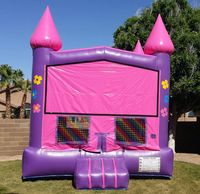 girl inflatable bounce house castle