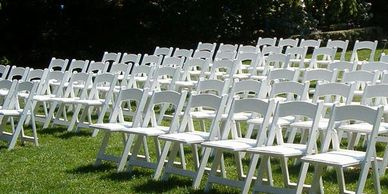 chair rental, folding chair, chair rentals.