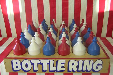 Bottle Ring toss game, carnival game, carnival game rental.