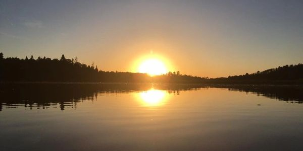 Lake of the Woods Sunsets Whitefish Bay Vic & Dot's Camp Family Fishing