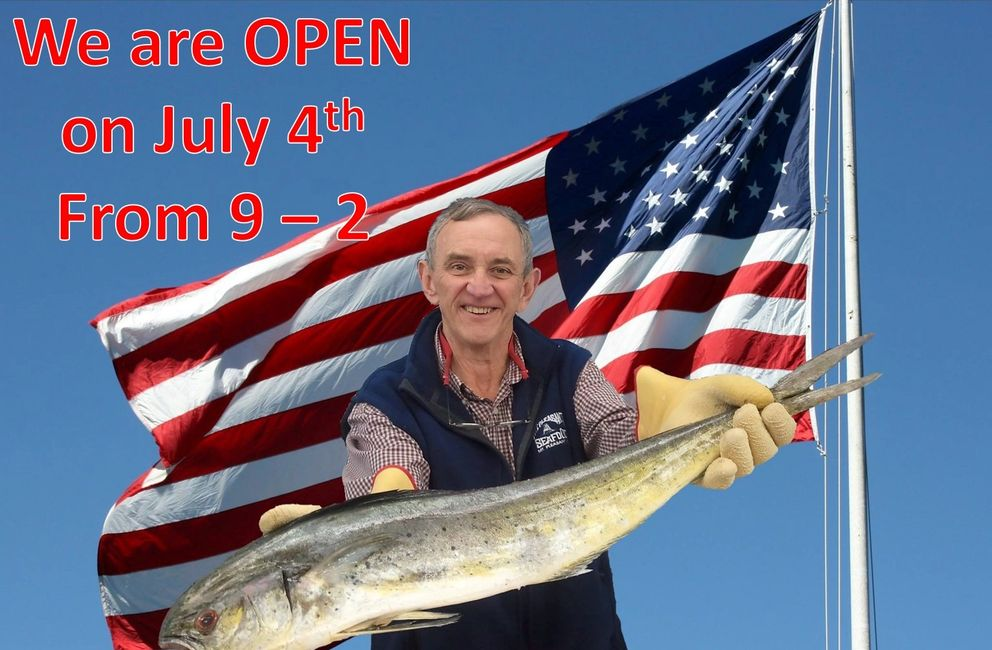 We are OPEN on July 4th - From 9 AM - 2 PM