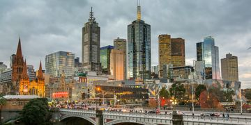 Melbourne CBD from Hamer Hall in Southbank on Hewett Commercial