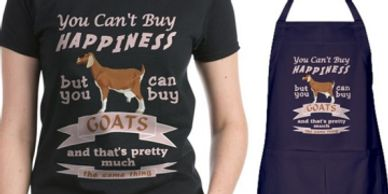 Goats shirts aprons and cases