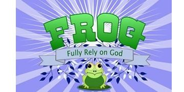 Frog fully rely on God cards buttons stickers