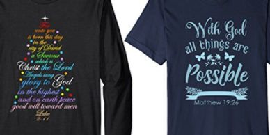 Christian Bible Verse shirts at Amazon