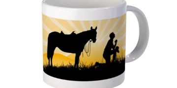 Praying Cowboy mugs