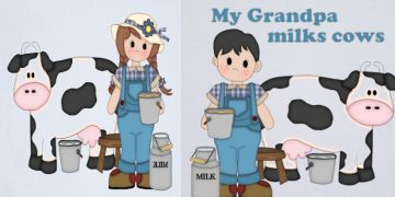 Dairy Kids Shirts and Products milk cows