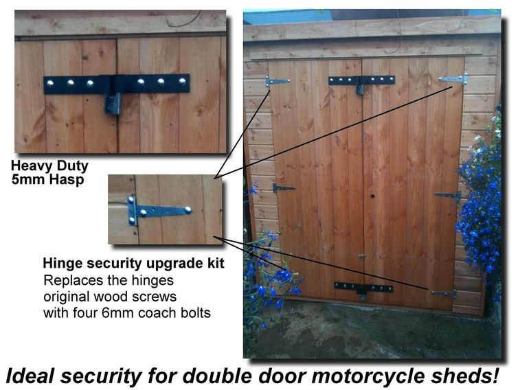 shed security hasp, motorcycle shed security