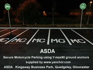 Commercial Secure Motorcycle Parking ASDA