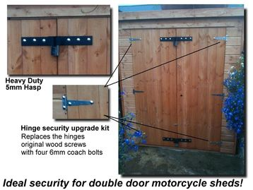 Shed security hasp