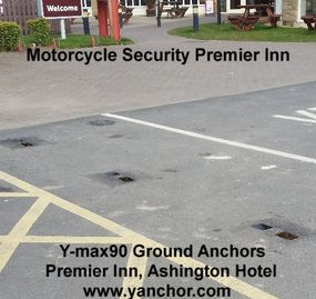 Commercial Secure Motorcycle Parking PREMIER INN
