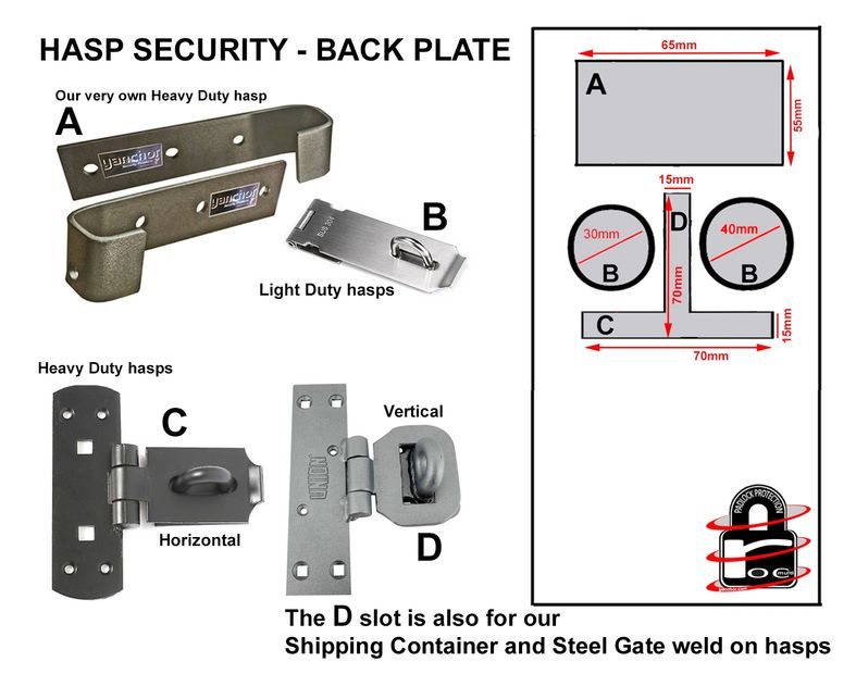 SECURITY HASP AND STAPLE