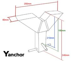 Y anchor security ground anchor
