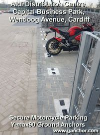 Commercial Secure Motorcycle Parking ALDI