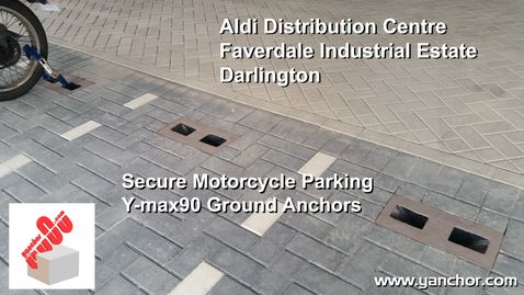 ALDI Commercial Secure Motorcycle Parking