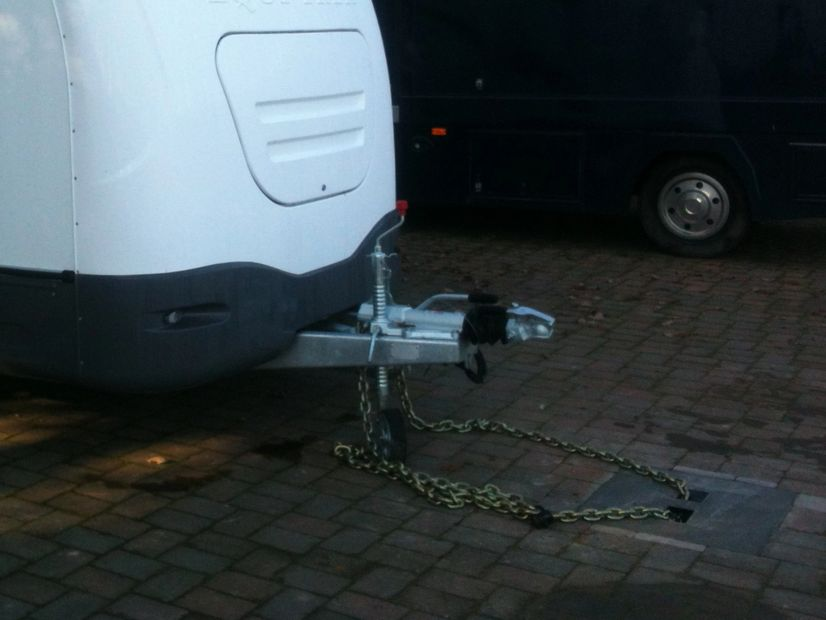 HORSE BOX SECURITY, TRAILER SECURITY Y anchor security ground anchor