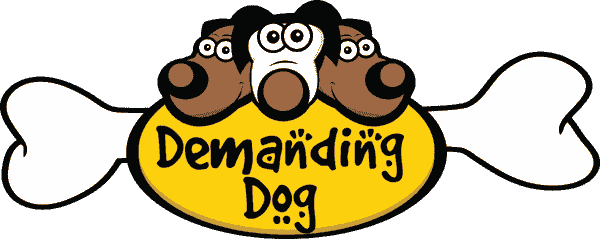 demanding dog website that helps fund animal rescue.