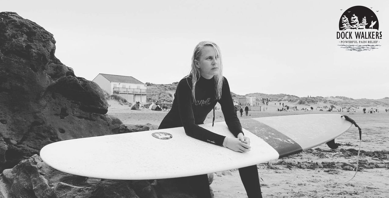 LifeSpice Cacao Mushroom Blend and Dock Walkers Natural Pain Relief creating a mental presence for Surfer Reflection. Lou Ruddle
