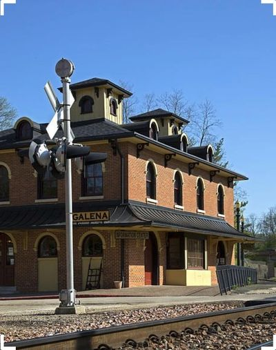 The train depot in Galena where Goodfoote captures the bad guys.