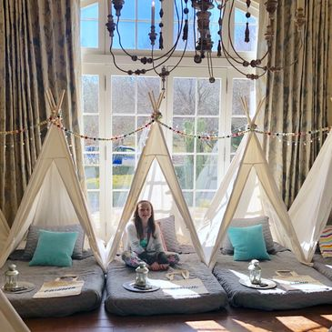 glamping mississippi teepee sleepover Upcountry Camp kid party ideas