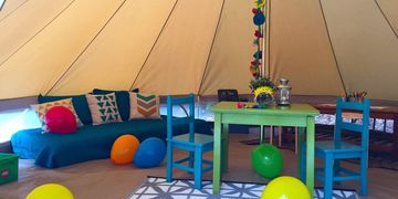 glamping party tent Jackson, Mississippi Upcountry Camp
