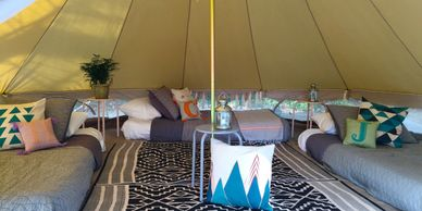 glamping slumber party Mississippi Upcountry Camp