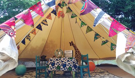 Glamping birthday party Jackson, Mississippi Upcountry Camp