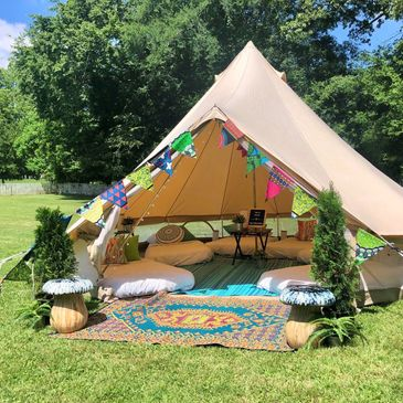 glamping sleepover party with Upcountry Camp in Mississippi