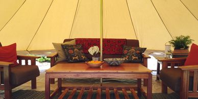 glamping lounge tent Madison, Mississippi Upcountry Camp