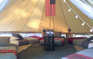 glamping sleepover for five
